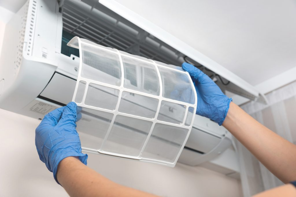 Cleaning AC filter