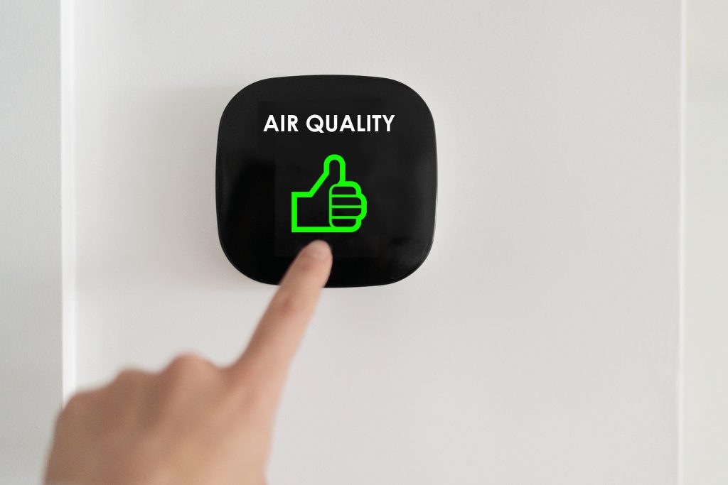 Air quality with thumbs up