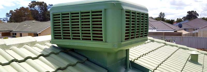 Evaporative Coolers on residential roof